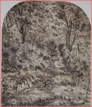 St Mary's Well, Edwin Beattie, date unknown.  Image courtesy of Harris Museum & Art Gallery, Preston